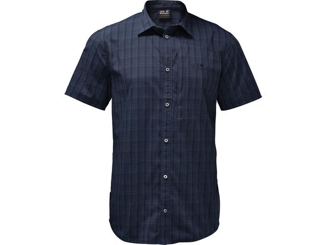 Jack Wolfskin Rays Stretch Vent T-shirt Homme, night blue checks
